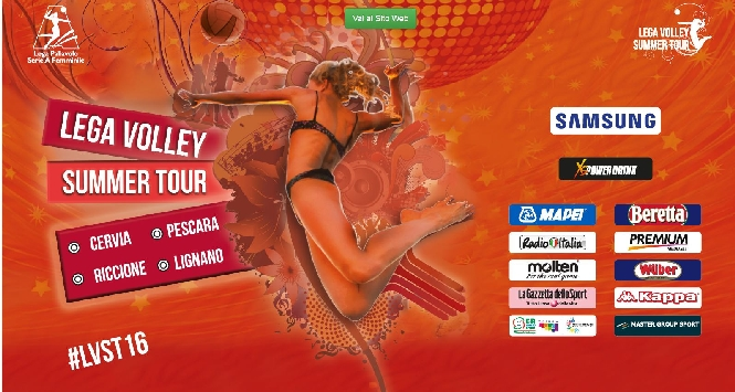 Il Master Group Sport Lega Volley Summer Tour 2016 è su Mediaset Premium