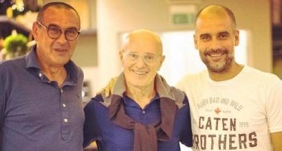 Sacchi, Guardiola e Sarri: un pranzo di... tattica