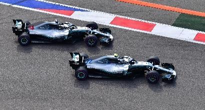 F1, Wolff sacrifica Bottas: ordine di scuderia plateale