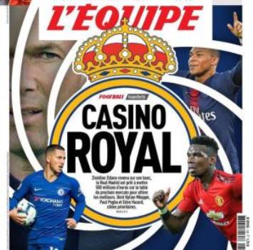 """Tris d'assi per il """"Casino Royal"""": il Real stanzia 500 mln per Mbappé, Pogba e Hazard"""