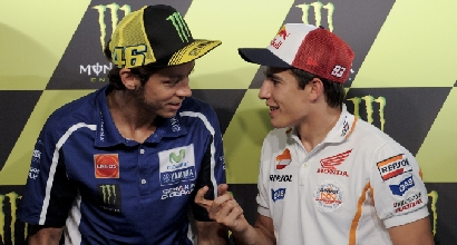Rossi e Marquez (Afp)