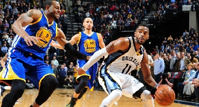 Warriors vs Grizzlies, foto Afp