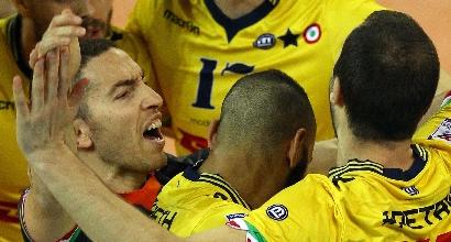Volley, finale scudetto: Modena schianta Perugia, sua gara-1