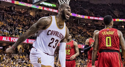 Nba, playoff: record di triple, i Cavs schiantano Atlanta