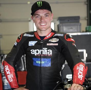 MotoGP, a Misano primo test di Sam Lowes sull'Aprilia