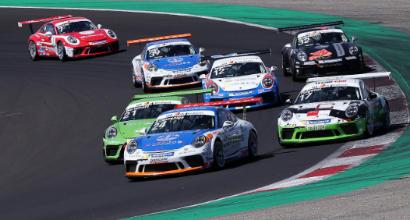 Porsche Carrera Cup Italia, a Vallelunga prima vittoria assoluta per Riccardo Cazzaniga