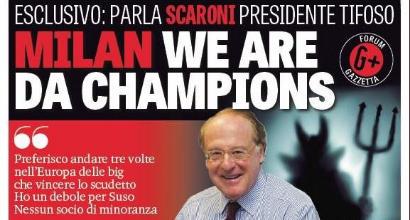 """Milan, Scaroni: """"Meglio la Champions dello scudetto. Ibra fantastico, ma preferisco Suso"""""""