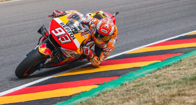 MotoGP, Marquez domina in Germania