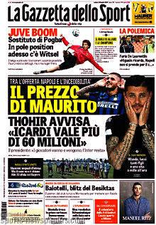 Le prime pagine dei quotidiani italiani ed esteri