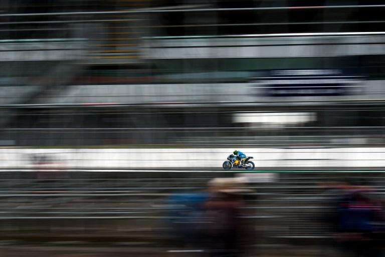 Franco Morbidelli durante il warm up del Gp di Silverstone (26 agosto)