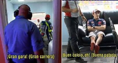 Rossi-Marquez, sfida a parole in direzione gara