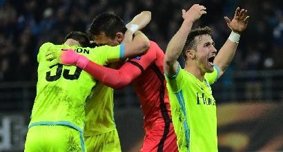 Europa League: poker Lione, cade il Tottenham