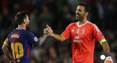 Champions, Juve: anche Buffon entra nel club Messi