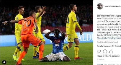 """Sorrentino: """"Siamo tutti Koulibaly"""". E nel profilo instagram mette il nome del difensore azzurro"""