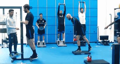 Inter: Icardi con il gruppo, le immagini dell'allenamento