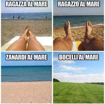 Autoironia Zanardi: ecco la mia foto al mare