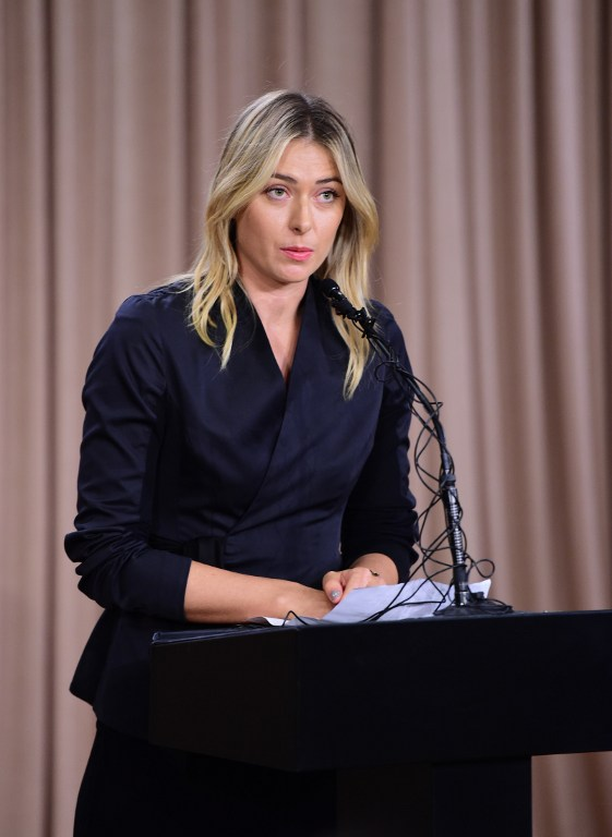Maria Sharapova, conferenza shock