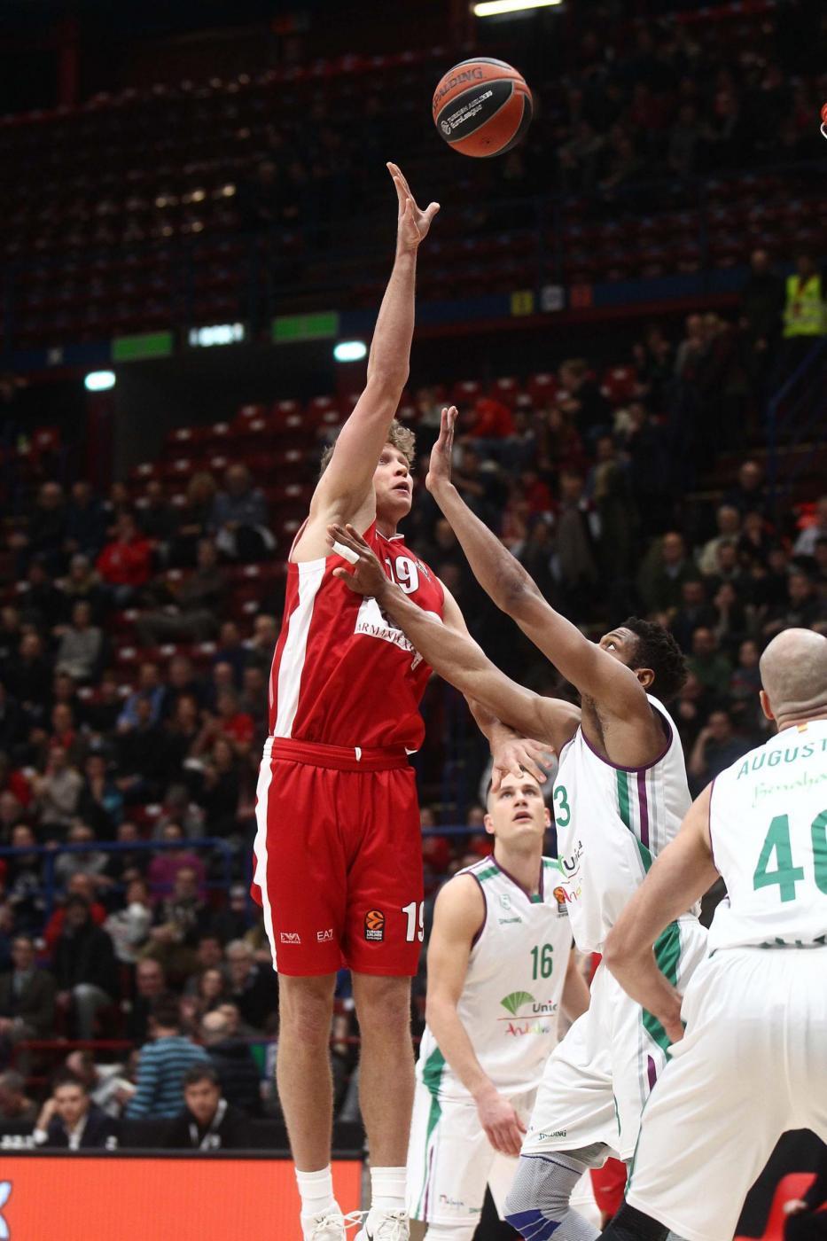 Basket, Eurolega: Olimpia Milano-Malaga 101-87, le foto del match