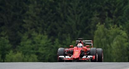 GP Austria, libere 3: Vettel davanti prima del diluvio