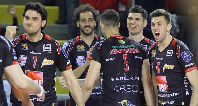 Volley, playoff Superlega: Perugia batte Civitanova e va in finale