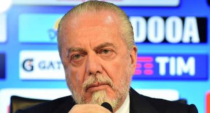 """De Laurentiis: """"Donnarumma? Forse gli pesa il Milan. Io con Lavezzi feci così..."""""""