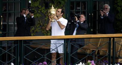 Wimbledon:Federer n°1 del tabellone