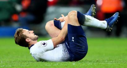 Tottenham, tegola Kane: starà fuori fino a marzo