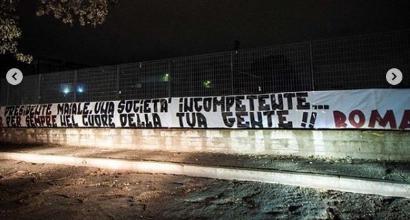 Addio De Rossi, a Roma spuntano striscioni contro Pallotta
