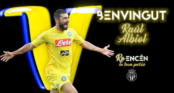 """Napoli, ufficiale Albiol al Villarreal: """"Professionista esemplare, grazie di tutto"""""""