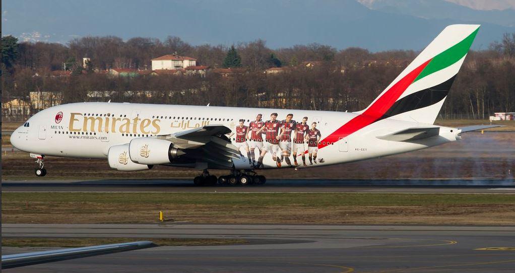 Emirates, da oggi si vola col Milan