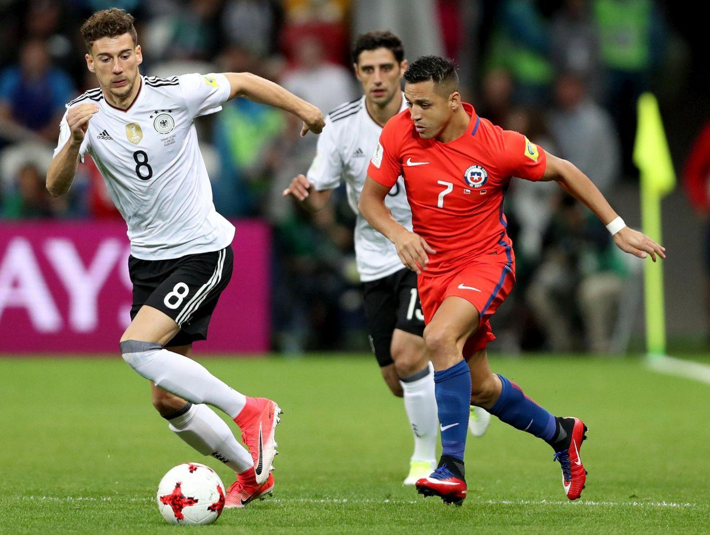 Germania-Cile, Sanchez nella storia