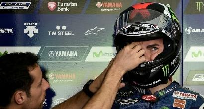 MotoGP: Lorenzo resta senza casco