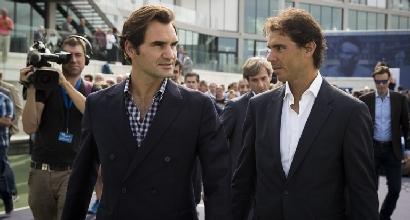 Federer e Nadal (Afp)