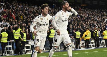 Coppa del Re, Real Madrid a fatica sul Girona: 4-2 con doppio Sergio Ramos