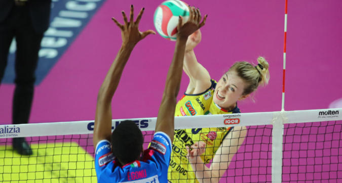 Volley, playoff: Conegliano domina gara-1 di finale, Novara non può nulla