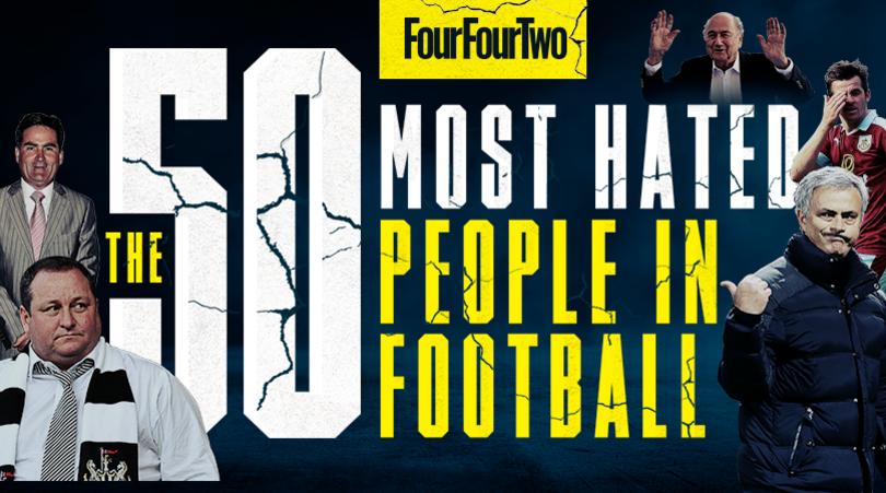 I 50 più odiati nella storia del calcio: la classifica