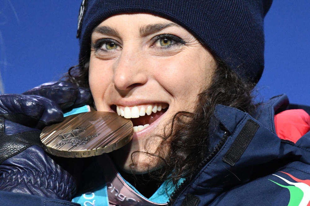 Federica Brignone, sorriso di bronzo