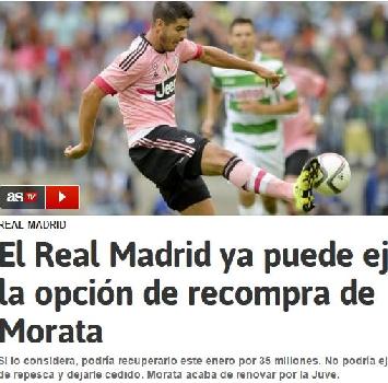 Attenta Juve, con 35 mln il Real Madrid può riavere Morata
