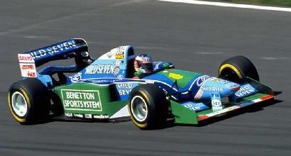 F1, Mick Schumacher sulla Benetton di papà Michael