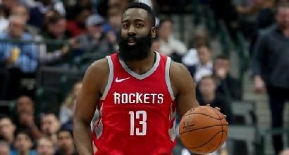 Nba: Harden da favola, i Rockets sbancano anche Denver