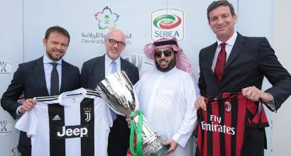 La Supercoppa italiana si giocherà il 16 gennaio a Gedda