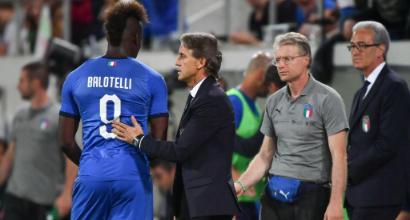 """Nazionale, Mancini: """"Balo torna solo se lo merita, se Quagliarella continua così..."""""""