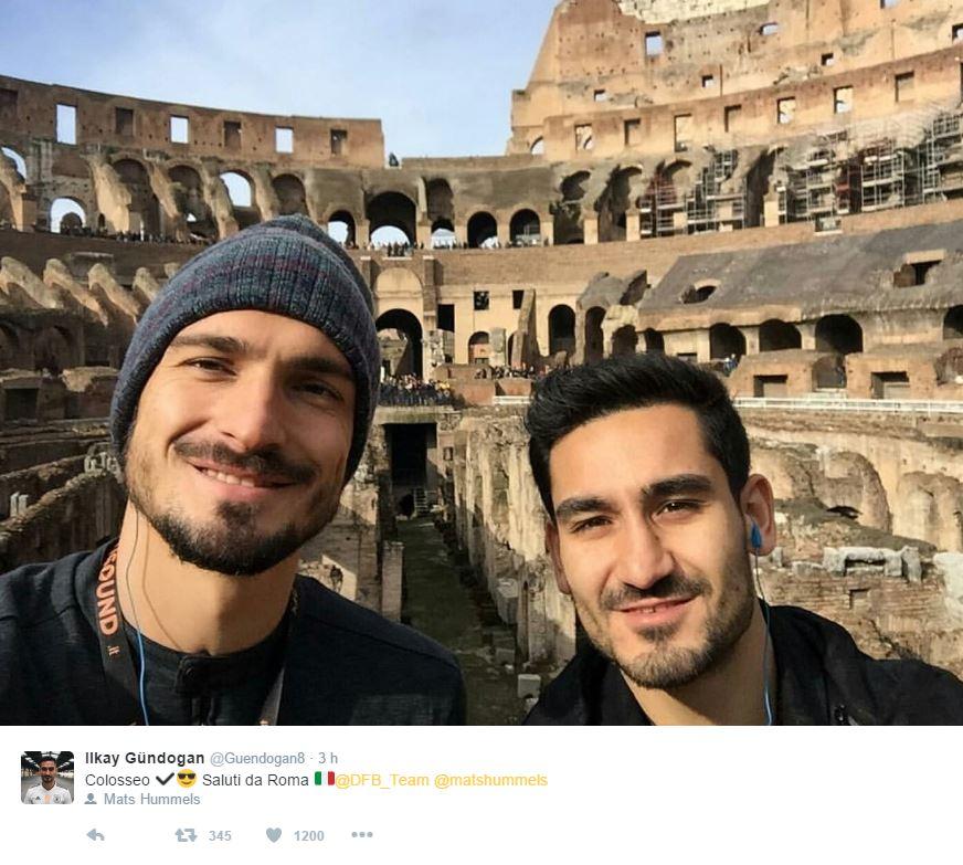 La Germania a Roma, visita al Colosseo
