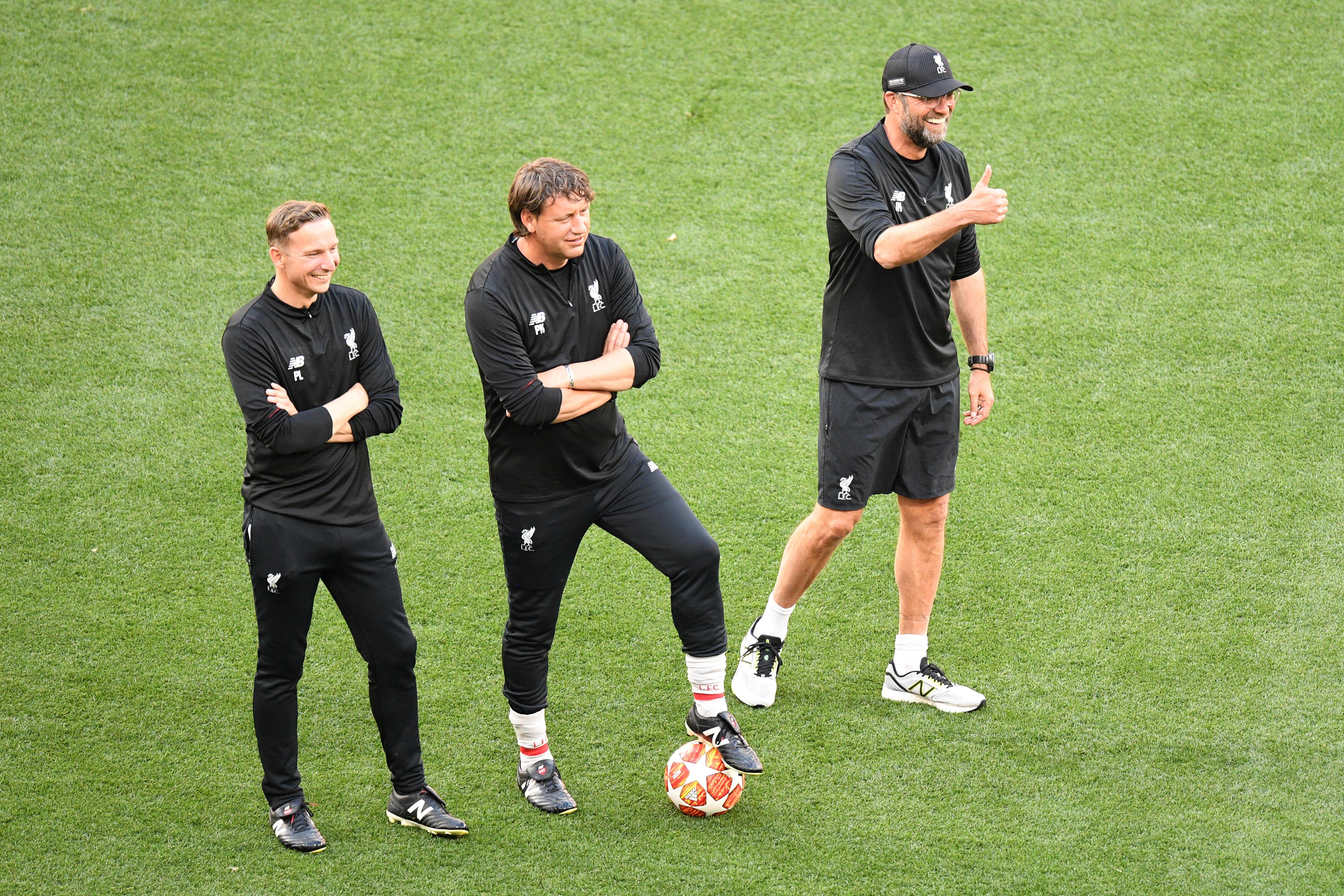 Klopp ha diretto l'allenamento di rifinitura prima della finale di Champions