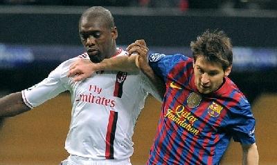 Seedorf e Messi (LaPresse)