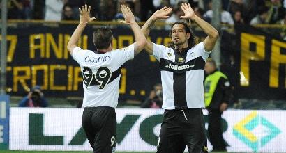 """Amauri regala l'Europa al Parma. Battuto il Livorno 2-0 al """"Tardini"""""""