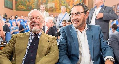 """De Laurentiis ad Allegri: """"Il Napoli è bello e anche vincente"""""""