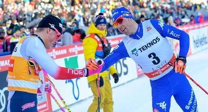 Sci di fondo, cdm uomini: Pellegrino vince la sprint skating a Lahti