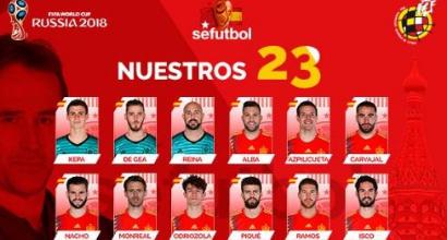 Russia 2018, i convocati della Spagna: out Morata e Suso