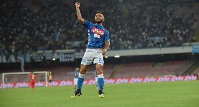 Il Napoli si gode Insigne: 50 gol in Serie A e il bacio di Ancelotti